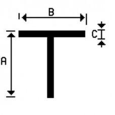 T-PROFIEL ALUMINIUM BRUTE 15X15X2MM 100CM