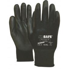 M-SAFE PU-FLEX B 14-086 ZWART, L