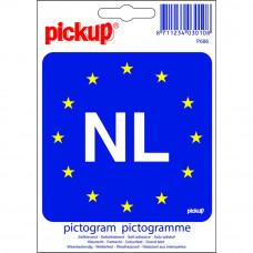 PICTOGRAM 10X10CM EUROPESE VLAG MET NL