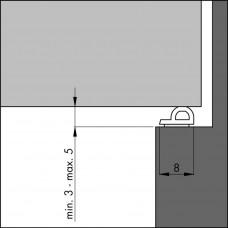 TOCHTPROFIEL TOCHTBAND P-ZWART 7,5 (GEMIDDELDE KIER)