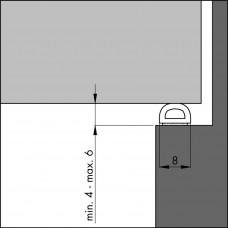TOCHTPROFIEL TOCHTBAND D-ZWART 7,5 (GROTE KIER)