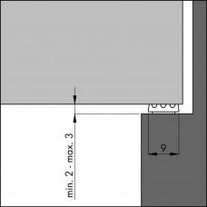 TOCHTPROFIEL TOCHTBAND K-ZWART 7,5 (KLEINE KIER)